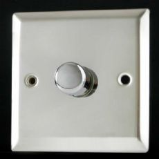 Varilight V-Plus 1 Gang 1 or 2 Way 500W Push on/off IQ Dimmer Mirror Chrome ICP501